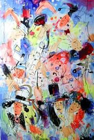Obraz do salonu artysty Dariusz Grajek pod tytułem Namiętności....