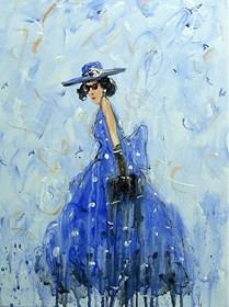 Obraz do salonu artysty Dariusz Grajek pod tytułem Chabrowy kapelusz...