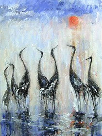 Obraz do salonu artysty Dariusz Grajek pod tytułem W słońcu....