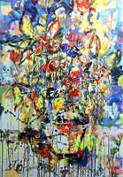 Obraz do salonu artysty Dariusz Grajek pod tytułem Wazon z kwiatami