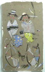 Obraz do salonu artysty Dariusz Grajek pod tytułem Kolarze...
