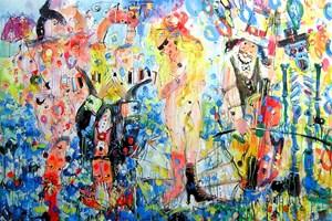 Obraz do salonu artysty Dariusz Grajek pod tytułem Wenus w okularach...