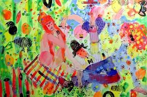 Obraz do salonu artysty Dariusz Grajek pod tytułem Na Trawie....
