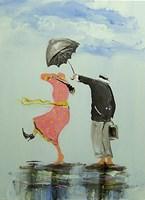 Obraz do salonu artysty Dariusz Grajek pod tytułem Anielski parasol...