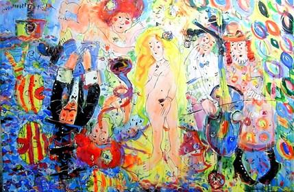 Obraz do salonu artysty Dariusz Grajek pod tytułem Wenus blond....