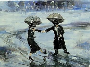 Obraz do salonu artysty Dariusz Grajek pod tytułem Zakochana para....