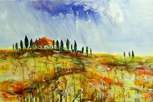 Obraz do salonu artysty Dariusz Grajek pod tytułem Toskańskie klimaty....