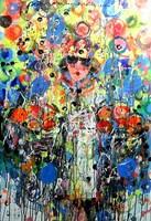 Obraz do salonu artysty Dariusz Grajek pod tytułem Kobieta w owocach.....