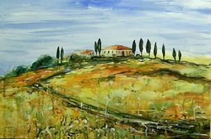 Obraz do salonu artysty Dariusz Grajek pod tytułem Toskańskie wzgórza....