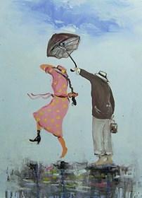 Obraz do salonu artysty Dariusz Grajek pod tytułem Anioł stróż....