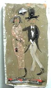 Obraz do salonu artysty Dariusz Grajek pod tytułem Miłosna para....
