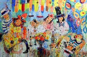 Obraz do salonu artysty Dariusz Grajek pod tytułem Impreza na wodą....