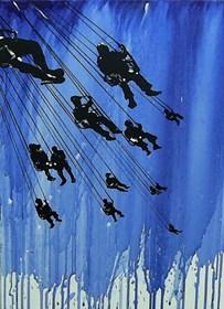 Obraz do salonu artysty Dariusz Grajek pod tytułem Karuzela życia....