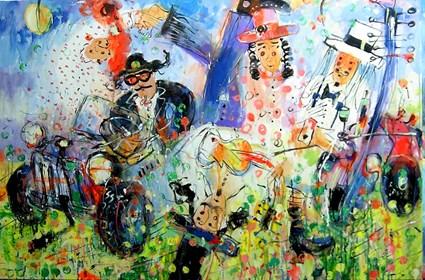 Obraz do salonu artysty Dariusz Grajek pod tytułem Automobilowy band...