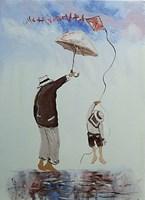Obraz do salonu artysty Dariusz Grajek pod tytułem Parasol i latawiec....