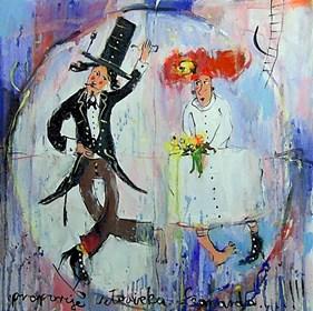 Obraz do salonu artysty Dariusz Grajek pod tytułem Miłość w proporcjach...