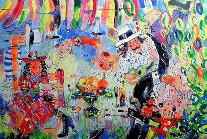 Obraz do salonu artysty Dariusz Grajek pod tytułem Party...