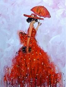 Obraz do salonu artysty Dariusz Grajek pod tytułem Parasol i kapelusz....