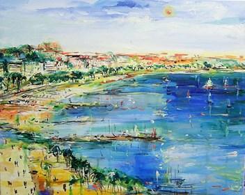 Obraz do salonu artysty Dariusz Grajek pod tytułem Zatoka w Nicei.....