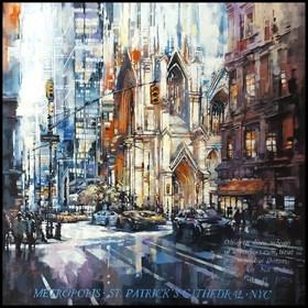 Obraz do salonu artysty Piotr Zawadzki pod tytułem Metropolis. st patrick's cathedral