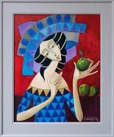 Obraz do salonu artysty Jan Bonawentura Ostrowski pod tytułem Dziewczyna z jabłkami