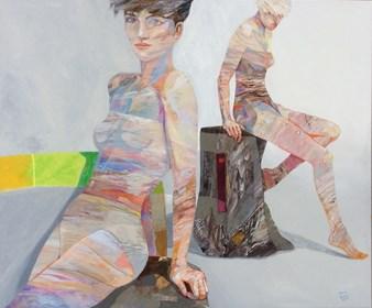 Obraz do salonu artysty Adam Wątor pod tytułem Spotkanie w nieokreślonej przestrzeni