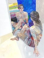 Obraz do salonu artysty Adam Wątor pod tytułem Szafirowe lustro