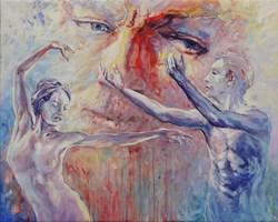 Obraz do salonu artysty Mariusz Kałdowski pod tytułem Pomiędzy 1