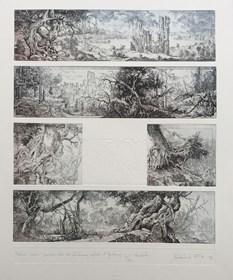 Grafika do salonu artysty Krzysztof Wieczorek pod tytułem Podróże w czasie i przestrzeni I