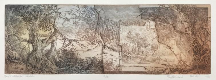 Grafika do salonu artysty Krzysztof Wieczorek pod tytułem Grafiki Horyzontalne:  Opowieści Niderlandzkie