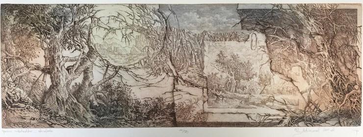 Grafika do salonu artysty Krzysztof Wieczorek pod tytułem Opowieści niderlandzkie