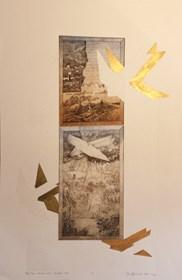 Grafika do salonu artysty Krzysztof Wieczorek pod tytułem Płynąć tam...how soon is now