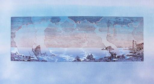 Grafika do salonu artysty Krzysztof Wieczorek pod tytułem Za widnokręgiem... tylko błękit