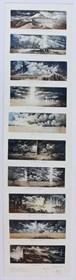 Grafika do salonu artysty Krzysztof Wieczorek pod tytułem Krótkie opowiadania - podróż  do Auvergne