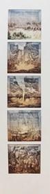 Grafika do salonu artysty Krzysztof Wieczorek pod tytułem Pięć kartek z podróży