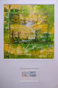 Grafika do salonu artysty Krzysztof Wieczorek pod tytułem Cztery pejzaże horyzontalne… początek i koniec Memory of green