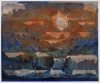 Grafika do salonu artysty Krzysztof Wieczorek pod tytułem Ja nawet nie wiem skąd biorą się te wszytskie szmery… wieje, rozwiewa mnie odbitka unikatowa dwunasta