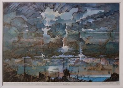 Grafika do salonu artysty Krzysztof Wieczorek pod tytułem Ciemna strona nieuchronnego końca
