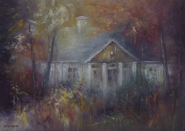 Obraz do salonu artysty Kazimierz Hamada pod tytułem Dwór Norwida w Głuchach