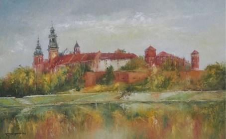 Obraz do salonu artysty Kazimierz Hamada pod tytułem Kraków-Widok Na Wawel