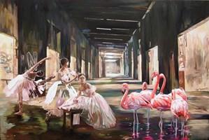 Obraz do salonu artysty Janusz Orzechowski pod tytułem Ballet lesson