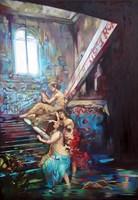 Obraz do salonu artysty Janusz Orzechowski pod tytułem Nimfy