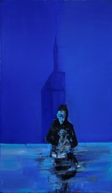Obraz do salonu artysty Zbigniew Nowosadzki pod tytułem Człowiek z owcą