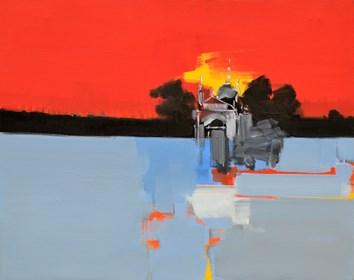 Obraz do salonu artysty Zbigniew Nowosadzki pod tytułem Czerwone niebo