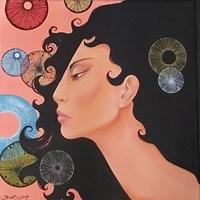 Living room painting by Iwona Wierkowska-Rogowska titled World