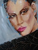 Obraz do salonu artysty Iwona Wierkowska-Rogowska pod tytułem Kobieta o piwnych oczach