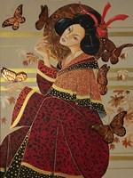 Living room painting by Iwona Wierkowska-Rogowska titled  Geisha II