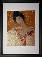 Obraz do salonu artysty Iwona Wierkowska-Rogowska pod tytułem Gejsza z perłą