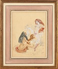 Obraz do salonu artysty Maja Berezowska pod tytułem Scena erotyczna
