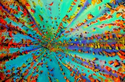 Obraz do salonu artysty Łukasz Jankiewicz pod tytułem Wszystko jest Energia